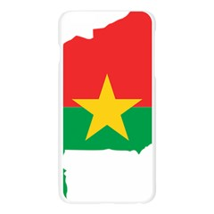 Flag Map Of Burkina Faso  Apple Seamless iPhone 6 Plus/6S Plus Case (Transparent)