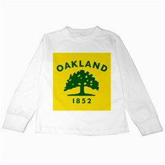 Flag Of Oakland, California Kids Long Sleeve T-Shirts