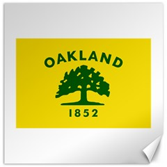 Flag Of Oakland, California Canvas 16  x 16