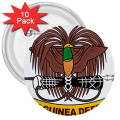 Papua New Guinea Defence Force Emblem 3  Buttons (10 pack)