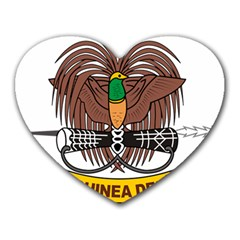 Papua New Guinea Defence Force Emblem Heart Mousepads
