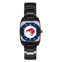 Roundel Of New Zealand Air Force Stainless Steel Barrel Watch