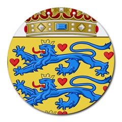 National Coat Of Arms Of Denmark Round Mousepads
