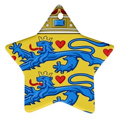 National Coat Of Arms Of Denmark Ornament (Star)