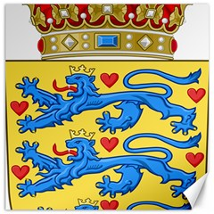 National Coat Of Arms Of Denmark Canvas 12  x 12