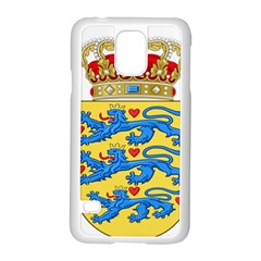 National Coat Of Arms Of Denmark Samsung Galaxy S5 Case (White)