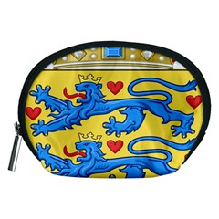 National Coat Of Arms Of Denmark Accessory Pouches (Medium)