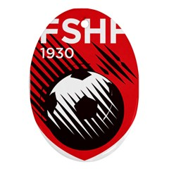 Crest Of The Albanian National Football Team Ornament (oval)