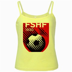 Crest Of The Albanian National Football Team Yellow Spaghetti Tank