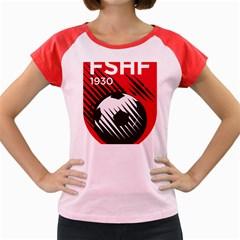 Crest Of The Albanian National Football Team Women s Cap Sleeve T Shirt
