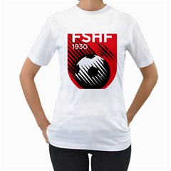 Crest Of The Albanian National Football Team Women s T Shirt (white) (two Sided)