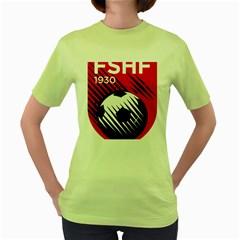 Crest Of The Albanian National Football Team Women s Green T Shirt