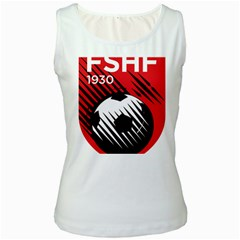 Crest Of The Albanian National Football Team Women s White Tank Top
