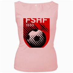 Crest Of The Albanian National Football Team Women s Pink Tank Top