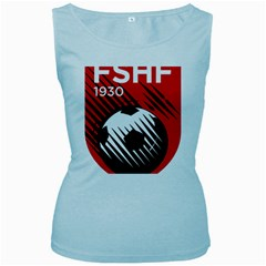 Crest Of The Albanian National Football Team Women s Baby Blue Tank Top