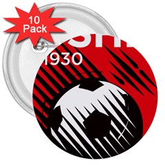 Crest Of The Albanian National Football Team 3  Buttons (10 Pack)