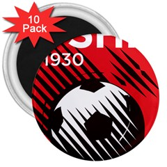 Crest Of The Albanian National Football Team 3  Magnets (10 Pack)