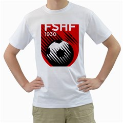 Crest Of The Albanian National Football Team Men s T Shirt (white) (two Sided)