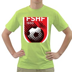 Crest Of The Albanian National Football Team Green T Shirt