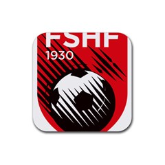 Crest Of The Albanian National Football Team Rubber Coaster (square)