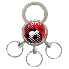 Crest Of The Albanian National Football Team 3 Ring Key Chains
