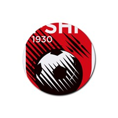 Crest Of The Albanian National Football Team Rubber Coaster (round)