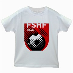 Crest Of The Albanian National Football Team Kids White T Shirts