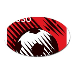 Crest Of The Albanian National Football Team Oval Magnet