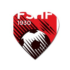 Crest Of The Albanian National Football Team Heart Magnet