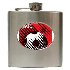 Crest Of The Albanian National Football Team Hip Flask (6 Oz)