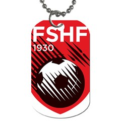 Crest Of The Albanian National Football Team Dog Tag (two Sides)