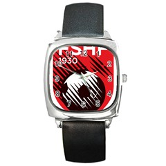 Crest Of The Albanian National Football Team Square Metal Watch