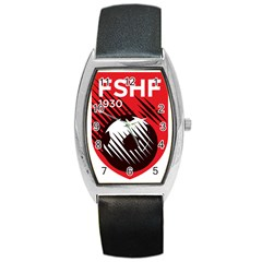 Crest Of The Albanian National Football Team Barrel Style Metal Watch