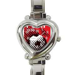 Crest Of The Albanian National Football Team Heart Italian Charm Watch