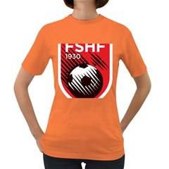 Crest Of The Albanian National Football Team Women s Dark T Shirt
