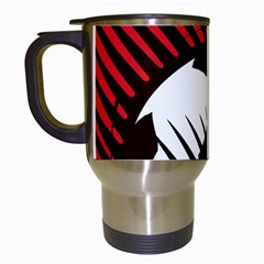 Crest Of The Albanian National Football Team Travel Mugs (white)