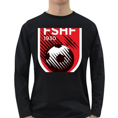 Crest Of The Albanian National Football Team Long Sleeve Dark T Shirts