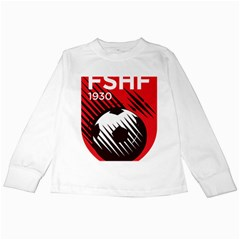 Crest Of The Albanian National Football Team Kids Long Sleeve T Shirts