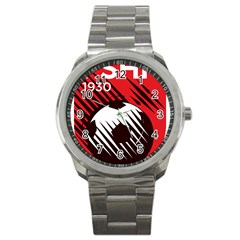 Crest Of The Albanian National Football Team Sport Metal Watch