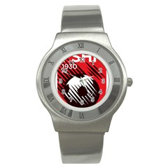 Crest Of The Albanian National Football Team Stainless Steel Watch