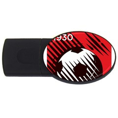 Crest Of The Albanian National Football Team USB Flash Drive Oval (4 GB)