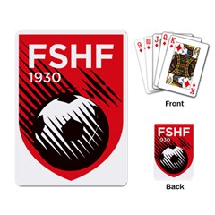 Crest Of The Albanian National Football Team Playing Card