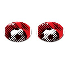 Crest Of The Albanian National Football Team Cufflinks (oval)