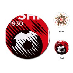 Crest Of The Albanian National Football Team Playing Cards (round)
