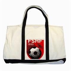 Crest Of The Albanian National Football Team Two Tone Tote Bag