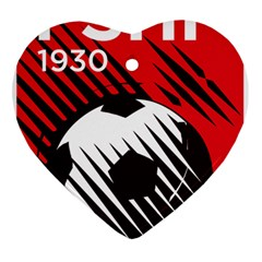 Crest Of The Albanian National Football Team Heart Ornament (2 Sides)