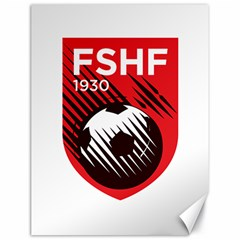 Crest Of The Albanian National Football Team Canvas 18  X 24