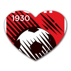 Crest Of The Albanian National Football Team Heart Mousepads