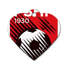 Crest Of The Albanian National Football Team Dog Tag Heart (one Side)