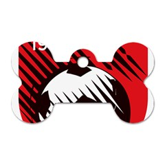 Crest Of The Albanian National Football Team Dog Tag Bone (one Side)